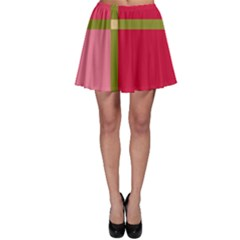 Red And Green Skater Skirt by Valentinaart