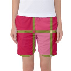 Red And Green Women s Basketball Shorts by Valentinaart