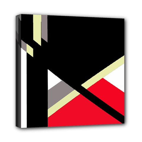 Red And Black Abstraction Mini Canvas 8  X 8  by Valentinaart