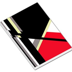 Red And Black Abstraction Large Memo Pads by Valentinaart