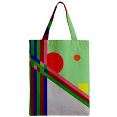 Decorative Abstraction Zipper Classic Tote Bag by Valentinaart