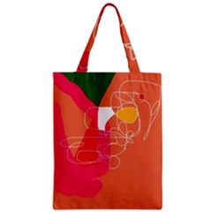 Orange Abstraction Zipper Classic Tote Bag by Valentinaart
