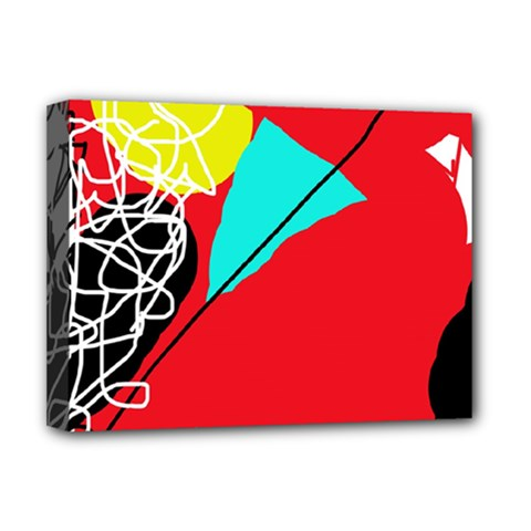 Colorful Abstraction Deluxe Canvas 16  X 12   by Valentinaart