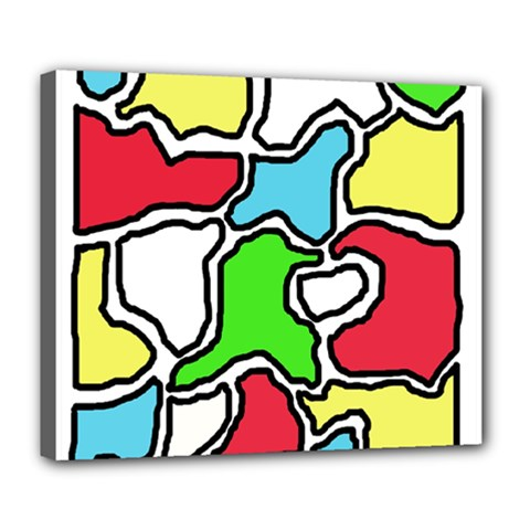 Colorful Abtraction Deluxe Canvas 24  X 20   by Valentinaart