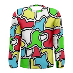 Colorful Abtraction Men s Long Sleeve Tee by Valentinaart