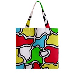 Colorful Abtraction Zipper Grocery Tote Bag by Valentinaart