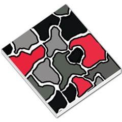 Black, Gray And Red Abstraction Small Memo Pads by Valentinaart
