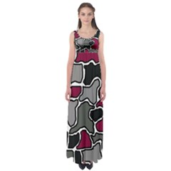 Decorative Abstraction Empire Waist Maxi Dress by Valentinaart