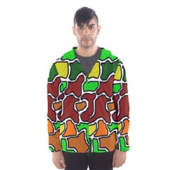 Africa Abstraction Hooded Wind Breaker (men)