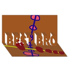 Brown Abstraction Best Bro 3d Greeting Card (8x4)