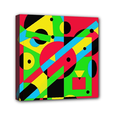 Colorful Geometrical Abstraction Mini Canvas 6  X 6  by Valentinaart