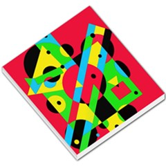 Colorful Geometrical Abstraction Small Memo Pads by Valentinaart