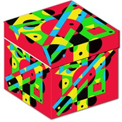 Colorful Geometrical Abstraction Storage Stool 12   by Valentinaart