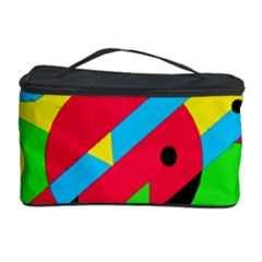 Colorful Geometrical Abstraction Cosmetic Storage Case by Valentinaart