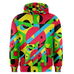 Colorful Geometrical Abstraction Men s Pullover Hoodie by Valentinaart