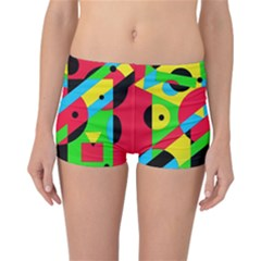 Colorful Geometrical Abstraction Reversible Boyleg Bikini Bottoms