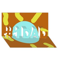 Abstract Sun #1 Dad 3d Greeting Card (8x4)  by Valentinaart