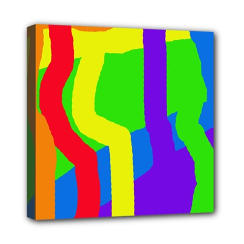 Rainbow Abstraction Mini Canvas 8  X 8  by Valentinaart