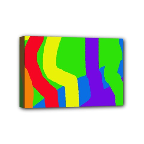 Rainbow Abstraction Mini Canvas 6  X 4  by Valentinaart
