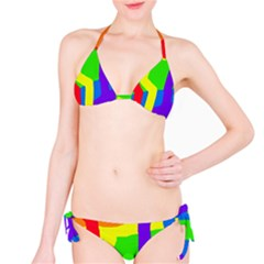 Rainbow Abstraction Bikini Set by Valentinaart
