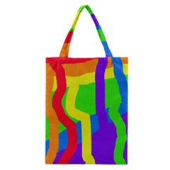 Rainbow Abstraction Classic Tote Bag by Valentinaart