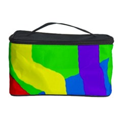 Rainbow Abstraction Cosmetic Storage Case by Valentinaart