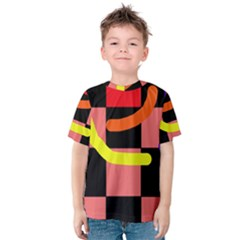 Multicolor Abstraction Kid s Cotton Tee