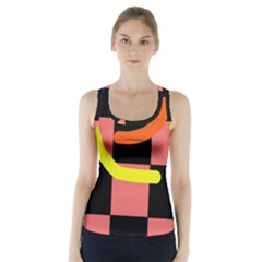 Multicolor Abstraction Racer Back Sports Top by Valentinaart