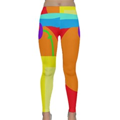 Colorful Abstraction Yoga Leggings by Valentinaart