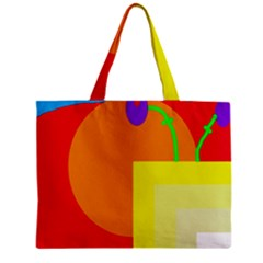 Colorful Abstraction Zipper Mini Tote Bag by Valentinaart