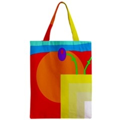 Colorful Abstraction Zipper Classic Tote Bag by Valentinaart