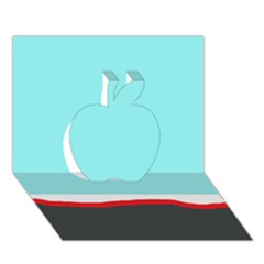 Simple Decorative Design Apple 3d Greeting Card (7x5)  by Valentinaart