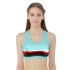 Simple Decorative Design Sports Bra With Border by Valentinaart