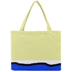 Yellow And Blue Simple Design Mini Tote Bag by Valentinaart