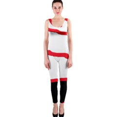 Red, Black And White Design Onepiece Catsuit by Valentinaart