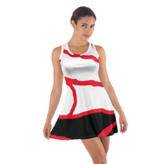 Red, Black And White Design Racerback Dresses by Valentinaart