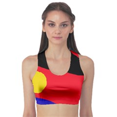 Colorful Abstraction Sports Bra by Valentinaart
