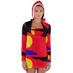 Colorful Abstraction Women s Long Sleeve Hooded T-shirt by Valentinaart