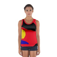 Colorful Abstraction Women s Sport Tank Top  by Valentinaart