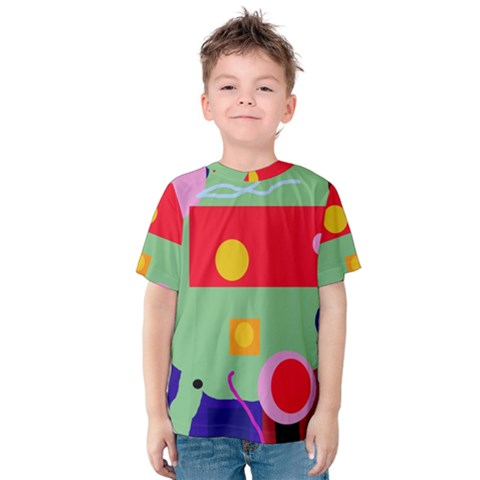 Optimistic Abstraction Kid s Cotton Tee by Valentinaart