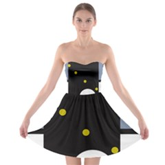 Abstract Design Strapless Dresses by Valentinaart