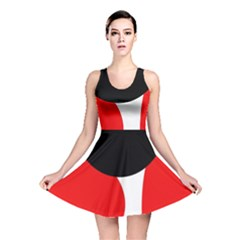 Red, Black And White Reversible Skater Dress by Valentinaart