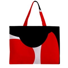Red, Black And White Zipper Mini Tote Bag by Valentinaart