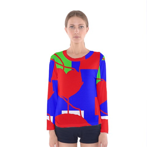Abstract Hart Women s Long Sleeve Tee by Valentinaart