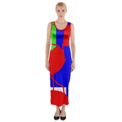 Abstract Hart Fitted Maxi Dress by Valentinaart