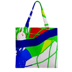 Colorful Abstraction Zipper Grocery Tote Bag by Valentinaart