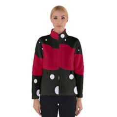Red, Black And White Abstraction Winterwear