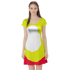 Colorful Abstraction Short Sleeve Skater Dress by Valentinaart
