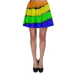 Rainbow Skater Skirt by Valentinaart