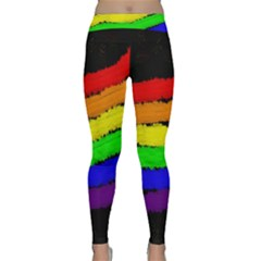 Rainbow Yoga Leggings by Valentinaart